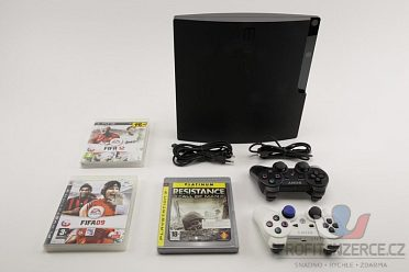 Sony PlayStation 3 250GB + 3x hra