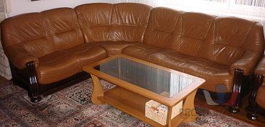 Kožená rohová sedačka