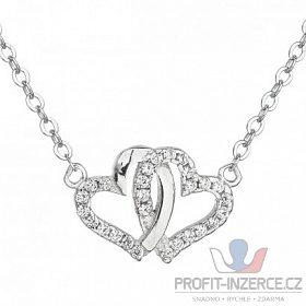 Stříbrný přívěsek s řetízkem spojená srd