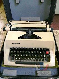 kufříkový psací stroj Consul