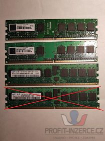 Prodám DDR2 paměti do PC