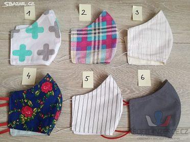 Designové roušky, 100% bavlna