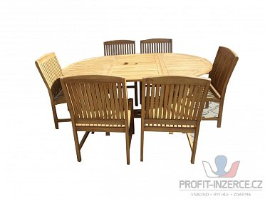 Set teakového zahradního nábytku