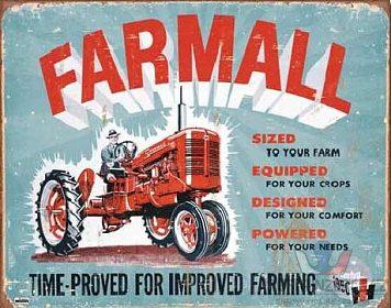 FARMALL - plechová cedule 410x320mm