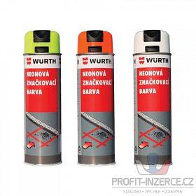 Značkovací neonové spreje Wurth