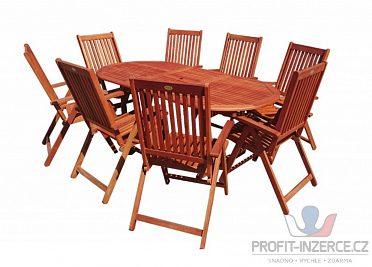 Dřevěný zahradní eukalyptový nábytek