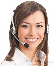 Telefonní operátorka - práce z domova