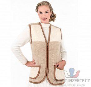 Teplá dámská vesta z ovčí vlny