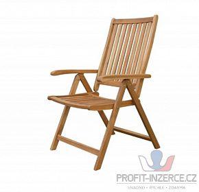 Zahradní polohovací židle akácie