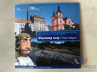 sada mincí ČR 2011 Plzeňský kraj UNC