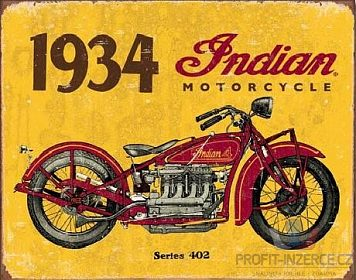INDIAN 1934 - plechová cedule 410x320mm