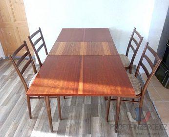 Jídelní rozkládací stůl se 4.židlemi