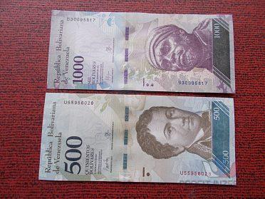 VENEZUELA - 500 a 1000 Bolivares - UNC