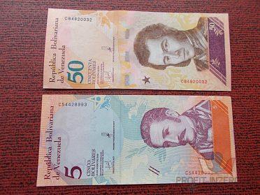 VENEZUELA - 5 a 50 Bolivares - UNC