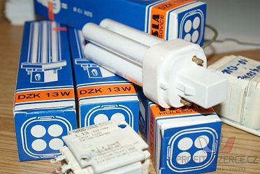 Zářivky DZ 13W moderní zdroj světlal.