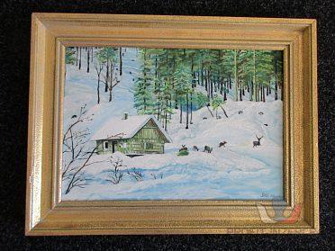 Prodej obrazu zimní krajina