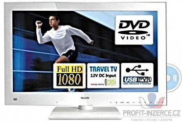 LED TV Mascom MC24LFH44DVD USB PVR- bílá