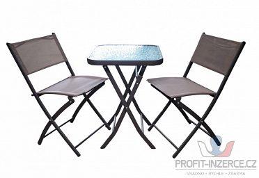Set nábytku s kovovou konstrukcí