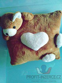 Dětský polštářek s medvídkem