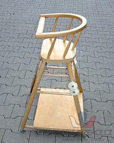 Dětská, dřevěná  jídelní židlička