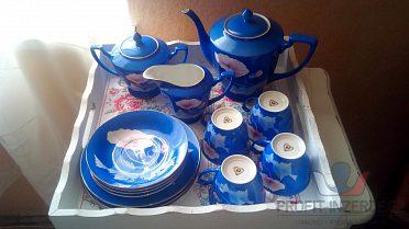 modrá čajová (kávová) souprava