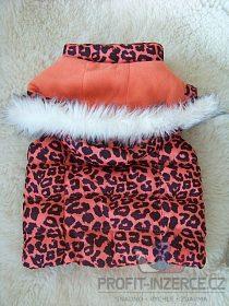 Leopardí vestička vesta kožešinou čepice