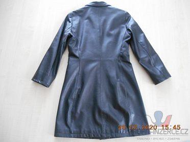 Prodám dámský kožený kabát  černý