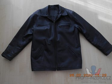 Prodám dámskou koženou černou bundu