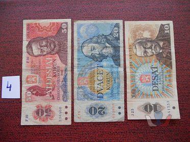 Tři bankovky Československa z oběhu
