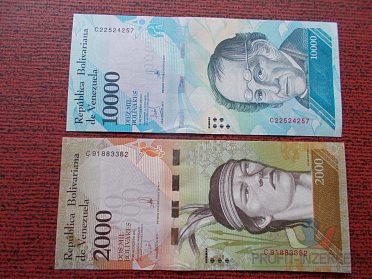 VENEZUELA - 10000 a 2000 Bolivares - UNC