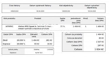 Senzor kadence a rychlosti Wahoo + záruk