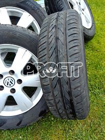 Alu disky s letními pneu - originál VW