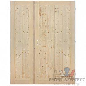 - Palubkové dveře dvoukřídlé plné 125cm