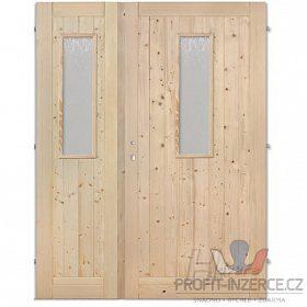 - Palubkové dveře dvoukřídlé sklo