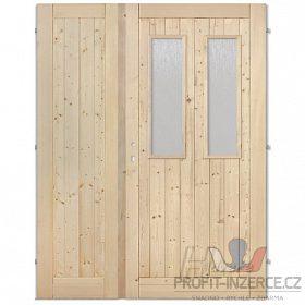 - Palubkové dveře dvoukřídlé 2xsklo