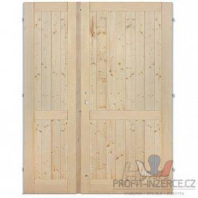 - Palubkové dveře dvoukřídlé s příčkou