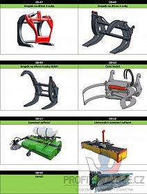 Adaptéry pro nakladače, traktory aj.