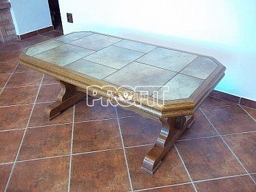 Konferenční stolek rustikál masív dlažba