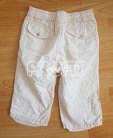 Dívčí pláťěné 3/4 kalhoty