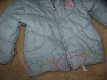 zimní bunda, bundička + šálek, rukavice