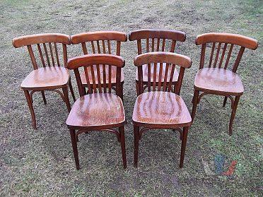 Židle dřevěná - židle dřevěné 6 kusů