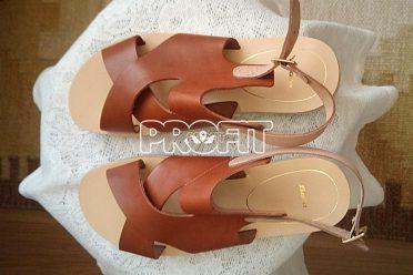 nové kožené dámské sandály