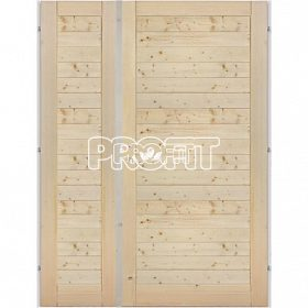 - Palubkové dveře dvoukřídlé vodorovné