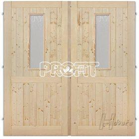 - Palubkové dveře dvoukřídlé,sklo,prička
