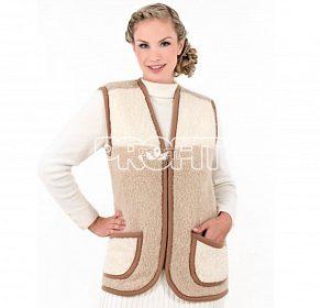 Funkční teplá dámská vesta z ovčí vlny