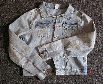 Jeansová budna dívčí HM
