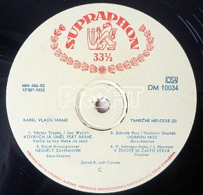 Gramofonové desky z 50. let