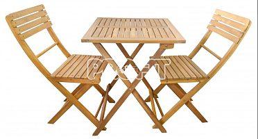 Dřevěný set nábytku na terasu