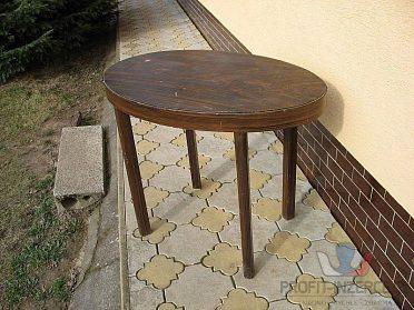 Konferenční stolek tmavý /elipsa/.