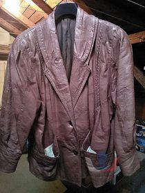Kožený kabátek